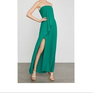 Draped Front Srapless BCBG gown